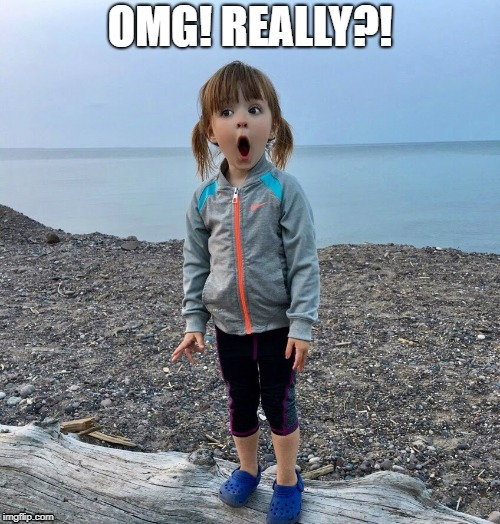 Toddler OMG! Really?! | OMG! REALLY?! | image tagged in kids,omg,wow,toddler,surprised | made w/ Imgflip meme maker
