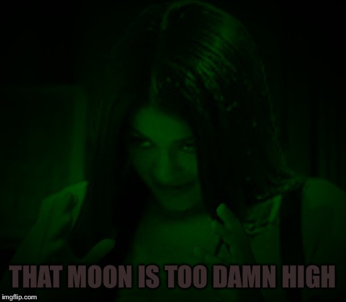 Night Mima | THAT MOON IS TOO DAMN HIGH | image tagged in night mima | made w/ Imgflip meme maker