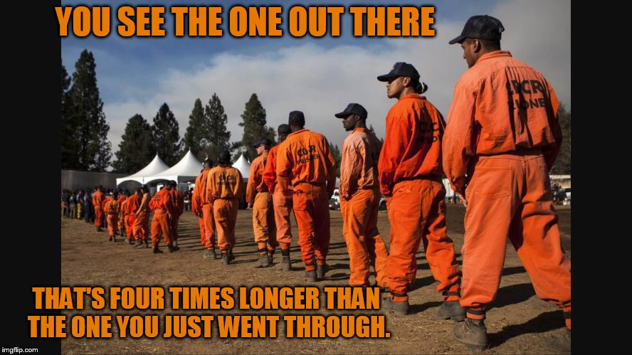 YOU SEE THE ONE OUT THERE THAT'S FOUR TIMES LONGER THAN THE ONE YOU JUST WENT THROUGH. | made w/ Imgflip meme maker