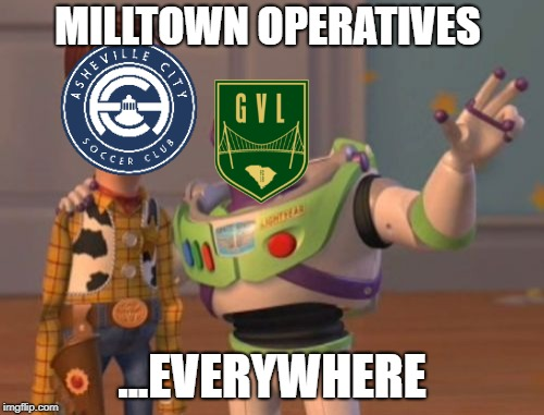 X, X Everywhere Meme | MILLTOWN OPERATIVES ...EVERYWHERE | image tagged in memes,x,x everywhere,x x everywhere | made w/ Imgflip meme maker