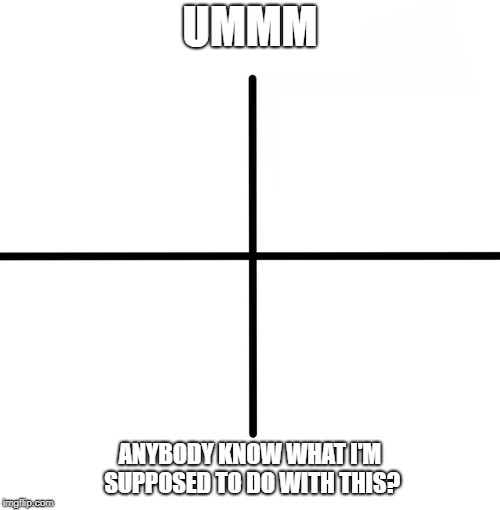 What's This? | UMMM ANYBODY KNOW WHAT I'M SUPPOSED TO DO WITH THIS? | image tagged in memes,blank starter pack | made w/ Imgflip meme maker