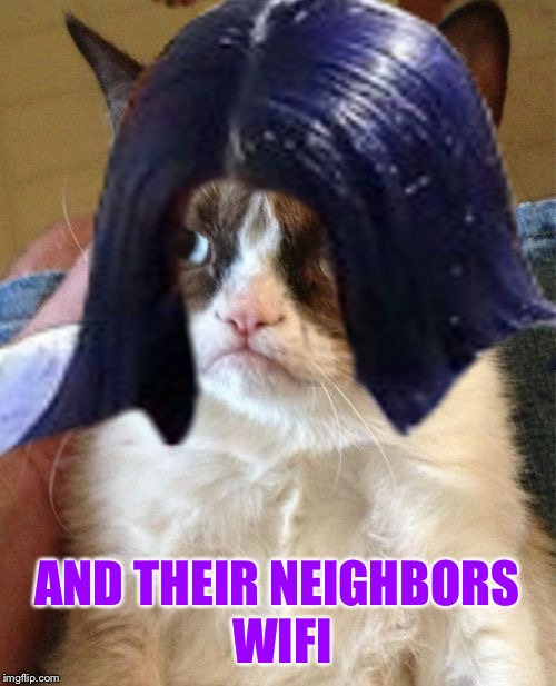 Grumpy Mima | AND THEIR NEIGHBORS WIFI | image tagged in grumpy mima | made w/ Imgflip meme maker
