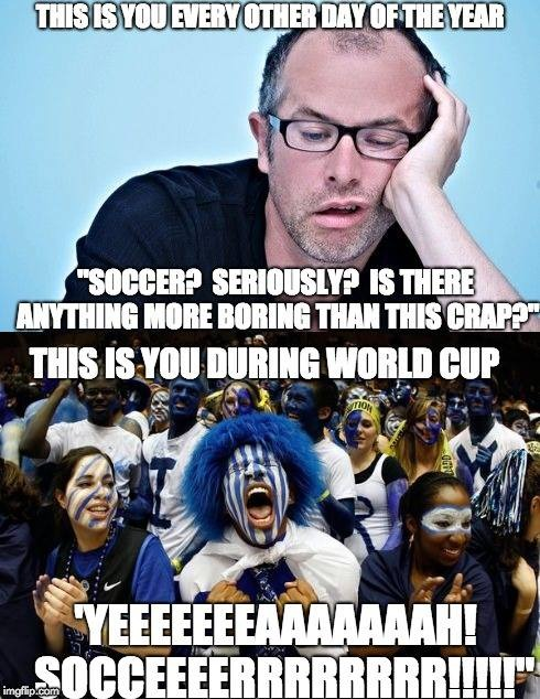 World Cup Fans | image tagged in soccer,world cup,fake sports fans | made w/ Imgflip meme maker