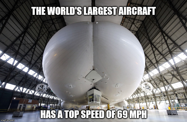 Ready for take off... | THE WORLD'S LARGEST AIRCRAFT HAS A TOP SPEED OF 69 MPH | image tagged in flying,aircraft,hot,take off,69,memes | made w/ Imgflip meme maker