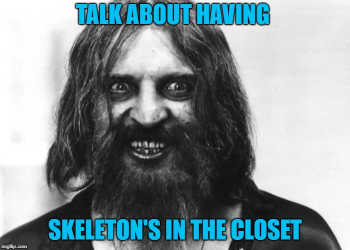 TALK ABOUT HAVING SKELETON'S IN THE CLOSET | made w/ Imgflip meme maker