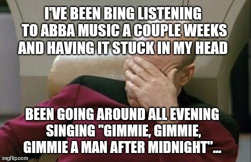 "I love me some Anna and Frida :-)  | I'VE BEEN BING LISTENING TO ABBA MUSIC A COUPLE WEEKS AND HAVING IT STUCK IN MY HEAD BEEN GOING AROUND ALL EVENING SINGING ""GIMMIE, GIMMIE,  