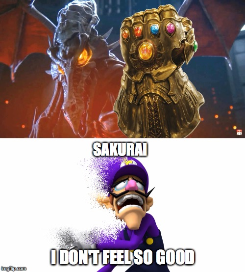 Sakurai... I don't feel so good... | SAKURAI I DON'T FEEL SO GOOD | image tagged in super smash bros,super smash brothers,waluigi,i don't feel so good,ridley,mr stark | made w/ Imgflip meme maker