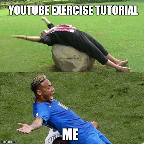 YOUTUBE EXERCISE TUTORIAL ME | image tagged in modi,exercise,world cup | made w/ Imgflip meme maker