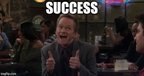 SUCCESS | made w/ Imgflip meme maker