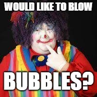 WOULD LIKE TO BLOW BUBBLES? | made w/ Imgflip meme maker