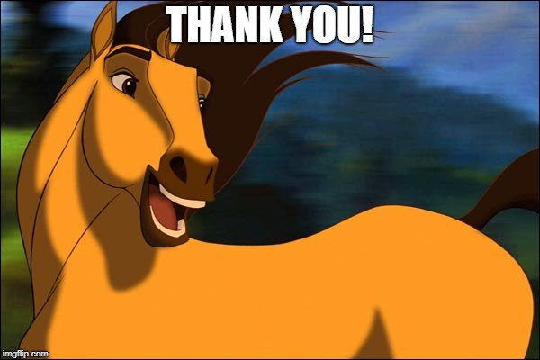 Spirit | THANK YOU! | image tagged in spirit | made w/ Imgflip meme maker