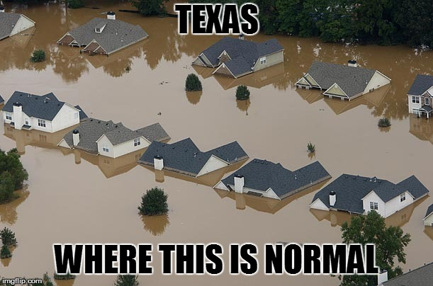 Flood | TEXAS WHERE THIS IS NORMAL | image tagged in flood | made w/ Imgflip meme maker