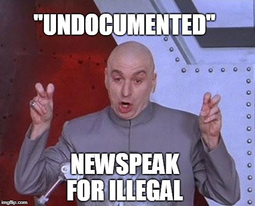 "Dr Evil Laser Meme | ""UNDOCUMENTED"" NEWSPEAK FOR ILLEGAL 