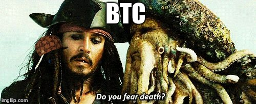 BTC | image tagged in do you fear death,scumbag | made w/ Imgflip meme maker