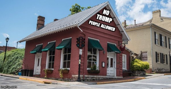 NO TRUMP PEOPLE  ALLOWED | image tagged in red hen | made w/ Imgflip meme maker