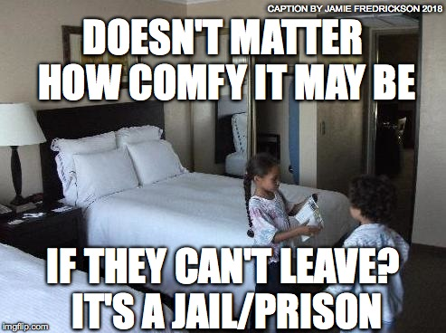 DOESN'T MATTER HOW COMFY IT MAY BE IF THEY CAN'T LEAVE? IT'S A JAIL/PRISON CAPTION BY JAMIE FREDRICKSON 2018 | image tagged in little thugs | made w/ Imgflip meme maker