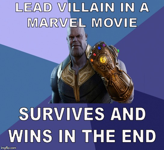 image tagged in infinity war meme,thanos meme,victory baby meme,victory meme | made w/ Imgflip meme maker
