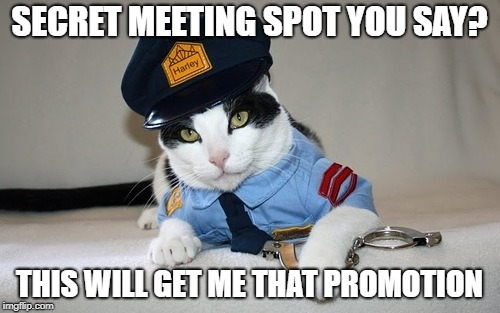 SECRET MEETING SPOT YOU SAY? THIS WILL GET ME THAT PROMOTION | made w/ Imgflip meme maker