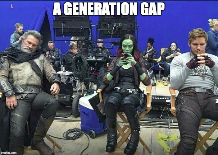A Generation Gap | A GENERATION GAP | image tagged in memes,funny,funny memes,marvel,too funny,millennials | made w/ Imgflip meme maker