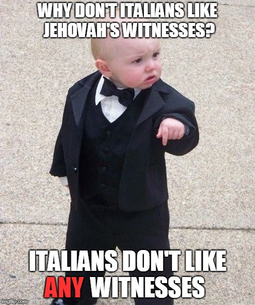Godfather Baby | image tagged in cute kid,italy,funny meme | made w/ Imgflip meme maker
