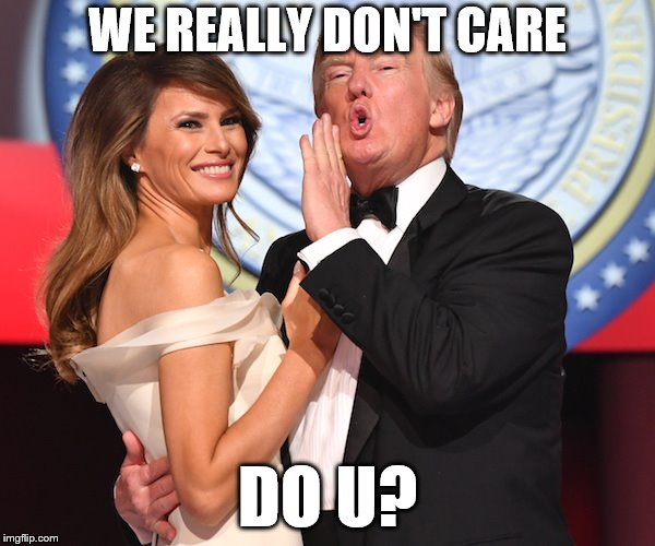 We really don't care, do u? | WE REALLY DON'T CARE DO U? | image tagged in meme,political meme,trump,melania trump,immigration | made w/ Imgflip meme maker