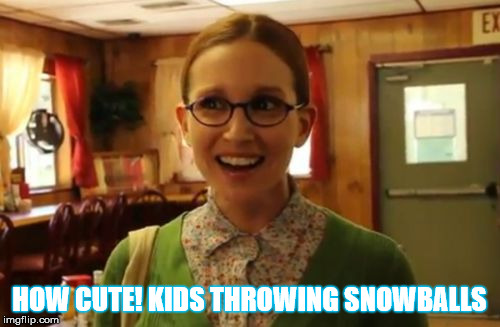 HOW CUTE! KIDS THROWING SNOWBALLS | made w/ Imgflip meme maker