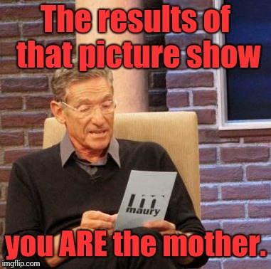 Maury Lie Detector Meme | The results of that picture show you ARE the mother. | image tagged in memes,maury lie detector | made w/ Imgflip meme maker
