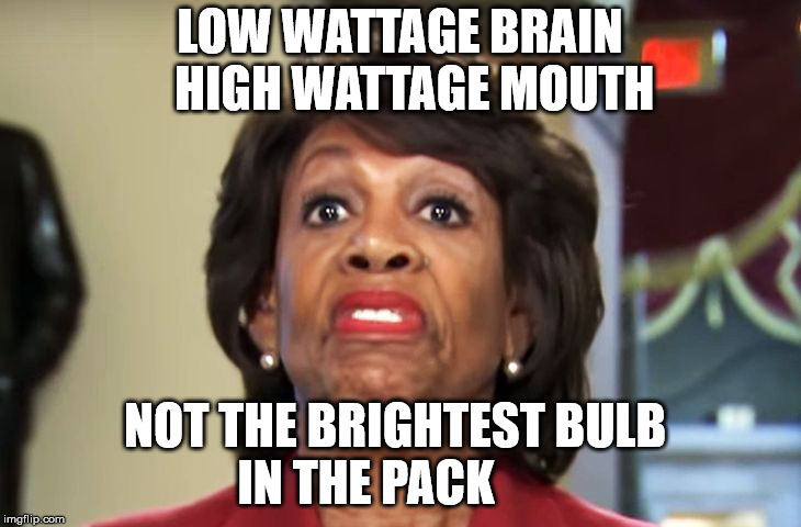 LOW WATTAGE BRAIN   HIGH WATTAGE MOUTH NOT THE BRIGHTEST BULB       IN THE PACK | image tagged in low wattage waters | made w/ Imgflip meme maker