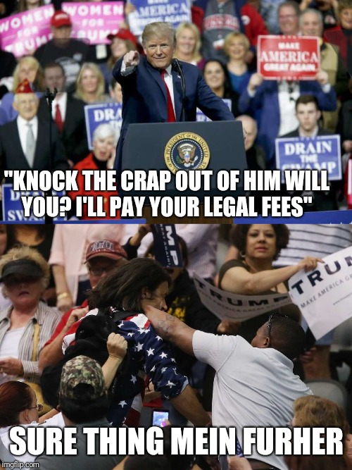 """KNOCK THE CRAP OUT OF HIM WILL YOU? I'LL PAY YOUR LEGAL FEES"" SURE THING MEIN FURHER 