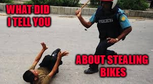 WHAT DID I TELL YOU ABOUT STEALING BIKES | made w/ Imgflip meme maker