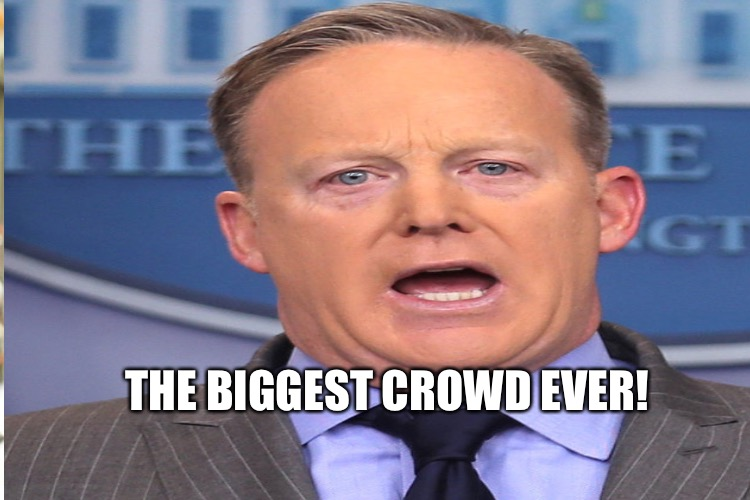 THE BIGGEST CROWD EVER! | made w/ Imgflip meme maker