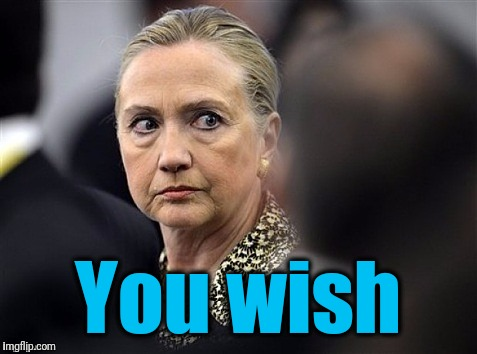 upset hillary | You wish | image tagged in upset hillary | made w/ Imgflip meme maker