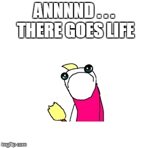 ANNNND . . . THERE GOES LIFE | made w/ Imgflip meme maker