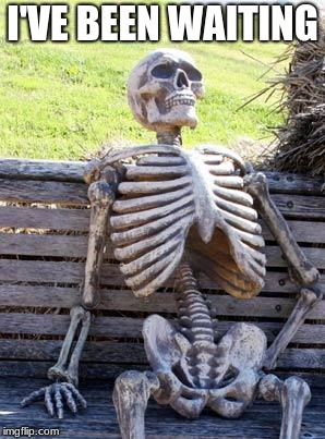 Waiting Skeleton Meme | I'VE BEEN WAITING | image tagged in memes,waiting skeleton | made w/ Imgflip meme maker