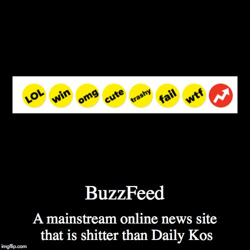 BuzzFeed | BuzzFeed | A mainstream online news site that is shitter than Daily Kos | image tagged in funny,demotivationals,buzzfeed | made w/ Imgflip demotivational maker