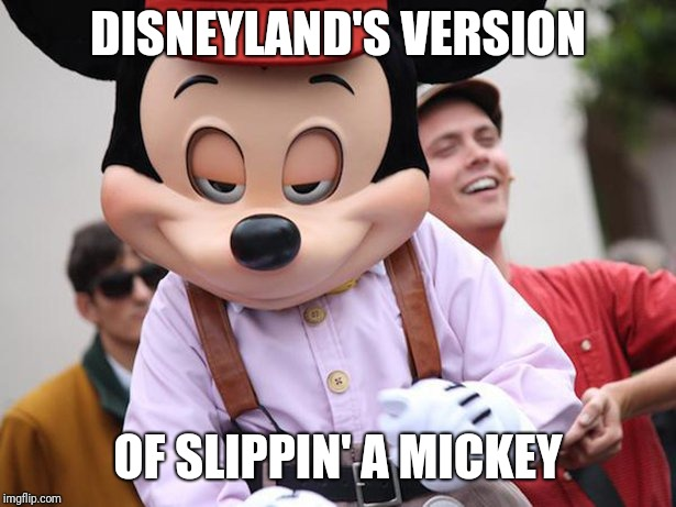 mickey | DISNEYLAND'S VERSION OF SLIPPIN' A MICKEY | image tagged in mickey | made w/ Imgflip meme maker