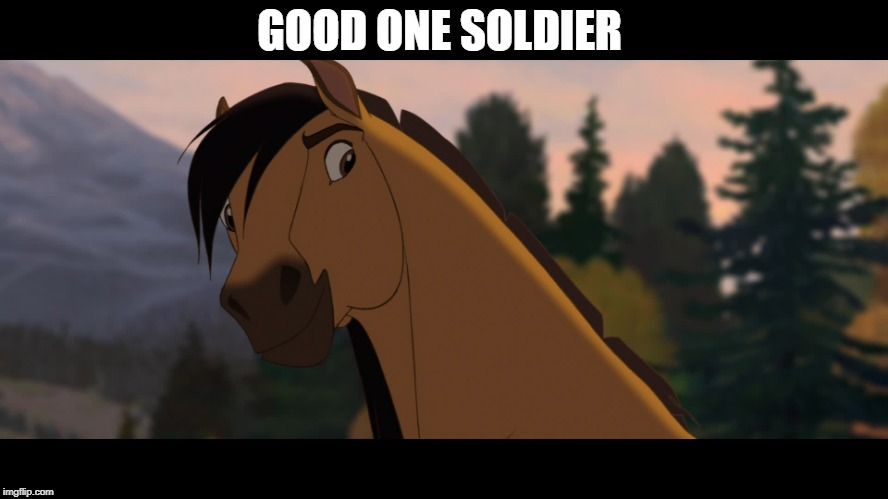 Spirit Approves | GOOD ONE SOLDIER | image tagged in spirit approves | made w/ Imgflip meme maker