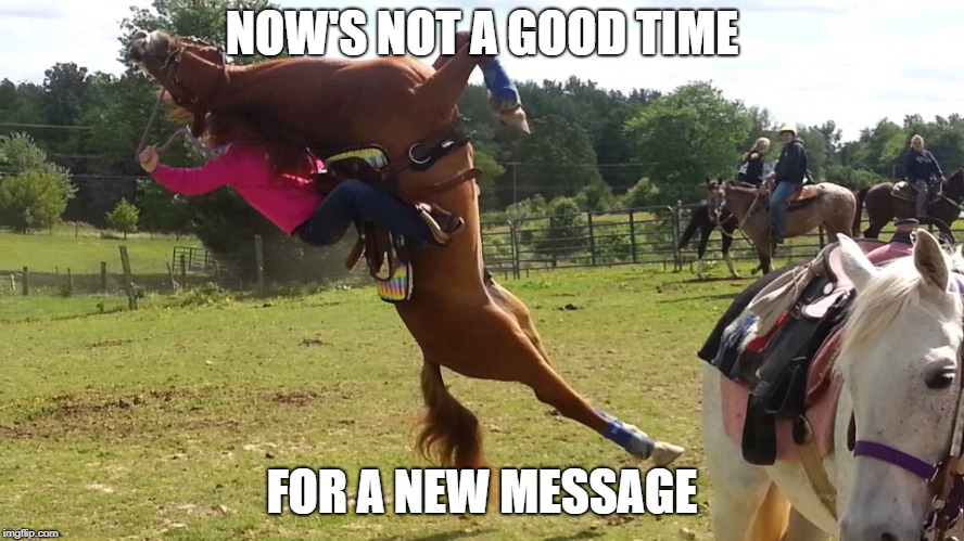 NOW'S NOT A GOOD TIME FOR A NEW MESSAGE | made w/ Imgflip meme maker