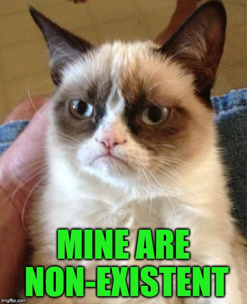Grumpy Cat Meme | MINE ARE NON-EXISTENT | image tagged in memes,grumpy cat | made w/ Imgflip meme maker