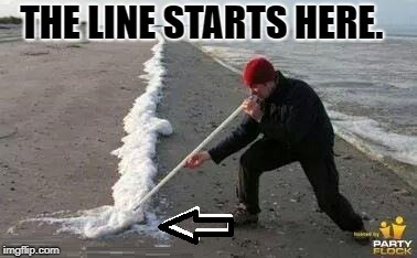 The Line | image tagged in cocaine | made w/ Imgflip meme maker
