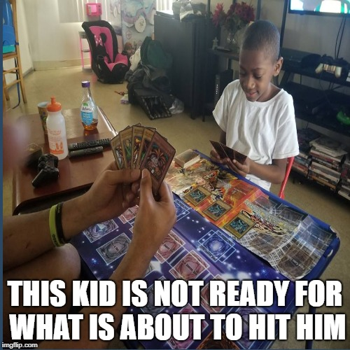 Yu-gi-oh shadow realm time | THIS KID IS NOT READY FOR WHAT IS ABOUT TO HIT HIM | image tagged in yu-gi-oh | made w/ Imgflip meme maker