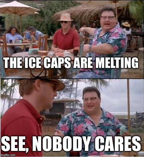 See Nobody Cares Meme | THE ICE CAPS ARE MELTING SEE, NOBODY CARES | image tagged in memes,see nobody cares | made w/ Imgflip meme maker