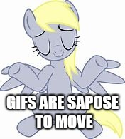 GIFS ARE SAPOSE TO MOVE | made w/ Imgflip meme maker