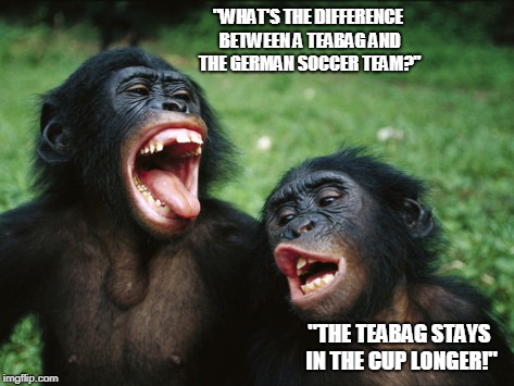 Monkey Business | image tagged in chimps,world cup,germany out,funny meme | made w/ Imgflip meme maker