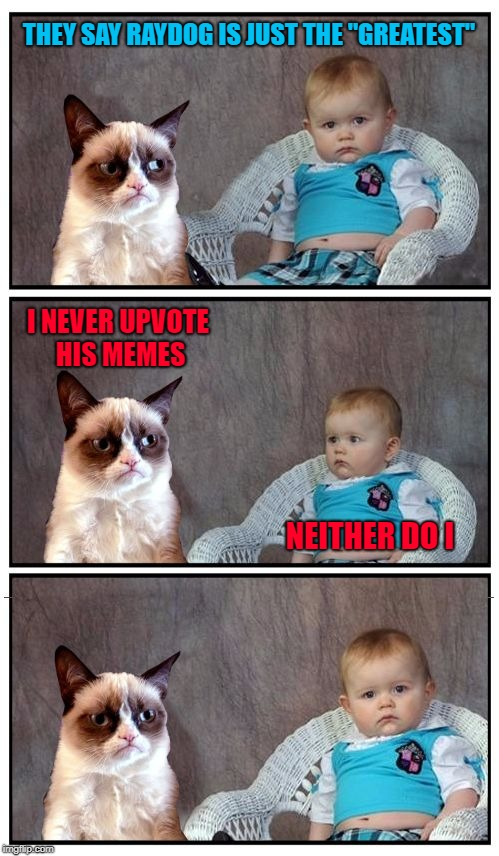 "If you can't poke fun at yourself, you can't poke fun at others either!!! | THEY SAY RAYDOG IS JUST THE ""GREATEST"" I NEVER UPVOTE HIS MEMES NEITHER DO I 