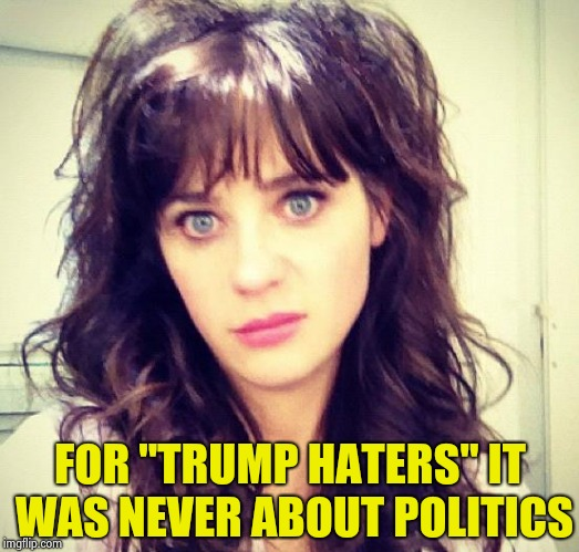 "Zooey Deschanel | FOR ""TRUMP HATERS"" IT WAS NEVER ABOUT POLITICS 