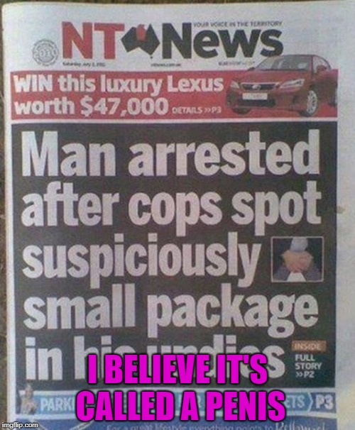 "A ""suspiciously small package"" 