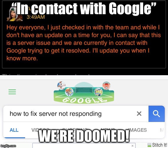 "Kabam in contact with google | ""In contact with Google"" WE'RE DOOMED! 