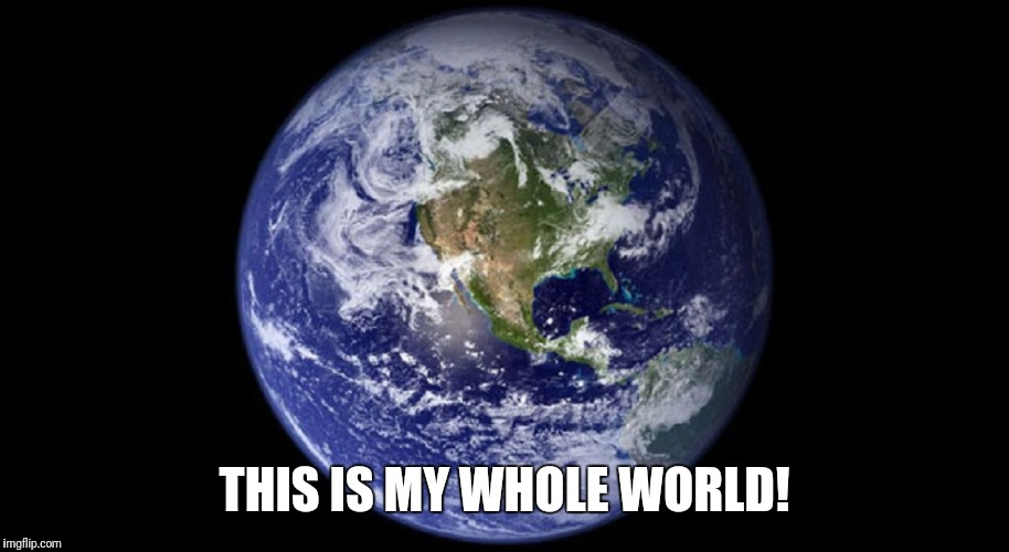 This is my whole world |  THIS IS MY WHOLE WORLD! | image tagged in world,whole world,earth | made w/ Imgflip meme maker