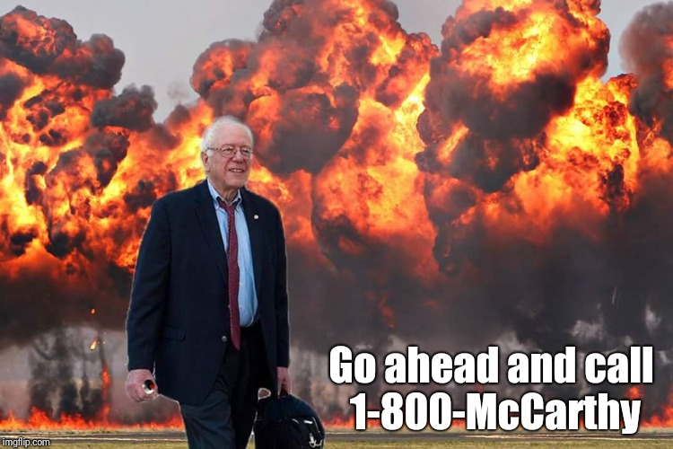 Go ahead and call 1-800-McCarthy | made w/ Imgflip meme maker